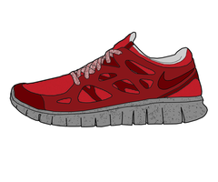 Nike Free Run NSW Suede Drawing by MattisamazingPS