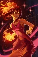 Flame princess (Phoebe) by Shockowaffel