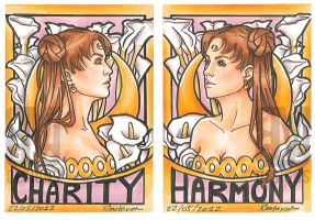 ACEO Charity and Harmony by radiant-suzuka