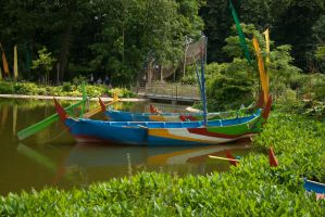 Colourful boats by steppelandstock
