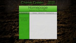 'Chime Green' Website Design by Timmie56