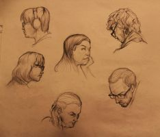 Life Drawing faces by marvelmania