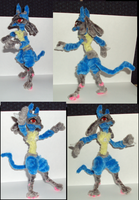 Pipecleaner Lucario by Amelius
