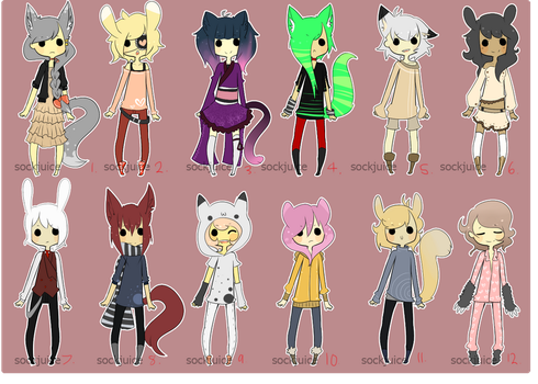 [kemonomimi adopts] [CLOSED, WINNERS CHOSEN] by sockjuice