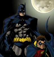 Batman n Robin by Pigz-n-Zen