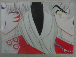 Sesshoumaru and Inuyasha by Emi952