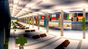 Airport/Train Station -- Built By YazurX by MinecraftPhotography