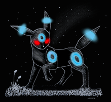 Shiny Umbreon:Lord of the dark by RukarioNakamura
