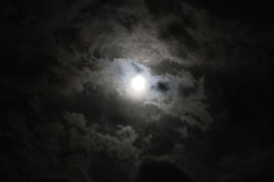 Cloudy Moon2 by Lynxwing