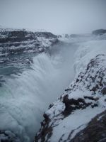 Iceland waterfall by feainne-stock