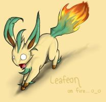 Leafeon OOPS by fanchielover15