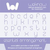 essential arrangement font by weknow by weknow