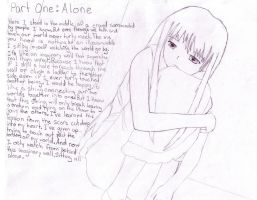 part one cover: alone by explorer123