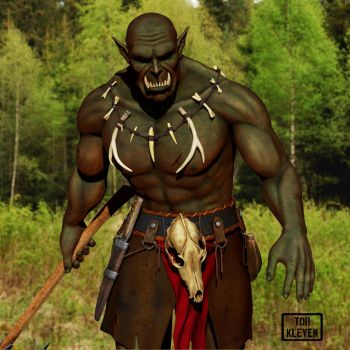 Gonlak - Orc of the forestlands. by Tor Kleven by TorMK