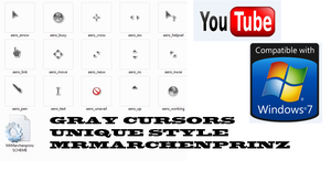 GRAY CURSORS TAILESS WAY by MrMarchenprinz