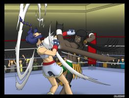 Liz vs Ranna round 1 by deadpoolthesecond