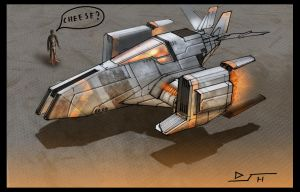 .:Ship sketch- 58:. by David-Holland