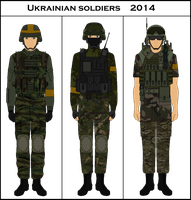 Ukranian Soldiers 2014 by Milosh--Andrich