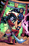 Psylocke and Shi by J-Skipper