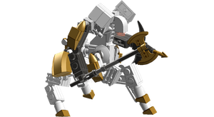 IMM Q20 White Knight Centaur Mecha by pittstop