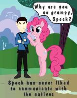 Spock in Equestria (colored) by MatiRiver