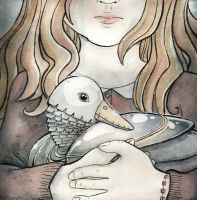 A Girl and Her Duck by scilk
