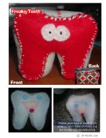 Freaky Felt Teeth - 3D by airlobster