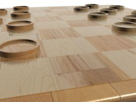 Simple Wood Checkers Set 4 by HopelessSoul13