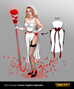 SMITE's Skin Concept: Forever Together Aphrodite by Myodora
