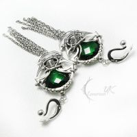 FANHTARVILH Silver and green quartz by LUNARIEEN