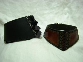 Suede Backed Leather Chokers by OfTheGodsBlood