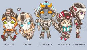 TFU - Chibi Autobots by tropical-angel