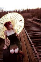 Parasol and Tracks by Baroque-Doll