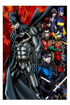 The Bat Family by nerp