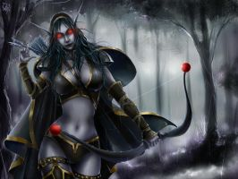 Traxex The Drow Ranger by Philiera