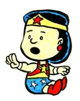 Peanuts vs Wonder Woman by jerrycarr