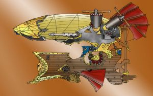 Steampunk Airship by Clayman8