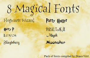8 Magical Fonts by Draco7052