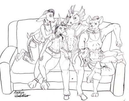 Bunch Of Characters On A Couch by ArvimUnderthur