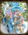 Back of Mini Gypsy Fairy Wagon by grimdeva