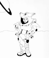 Space Girl Inked by Anubis84