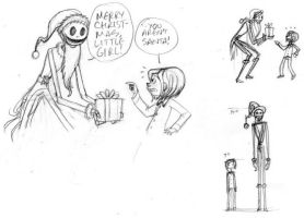 Coraline and Santa Jack by queenbean3
