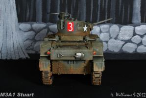 M3A1 Stuart rear by 12jack12
