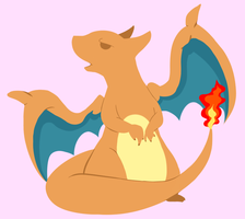 Charizard lineless by Vickiepwnyou