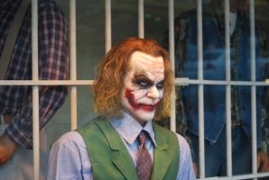 joker 1 - heath ledger wax sculpture by meihua-stock