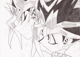 Atem and Yugi by CookieRansacked