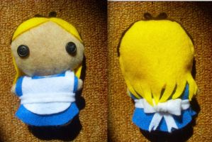 Alice in Wonderland Plushie by CheesyHipster