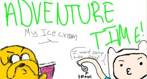 Adventure Time- Ice Cream by Lady-of-Ratatosk