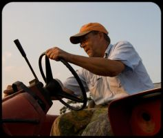 Dad, Tractor IV by Ladwigger
