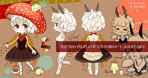 ADOPTABLE: The tiny people of the forest I by chegovia